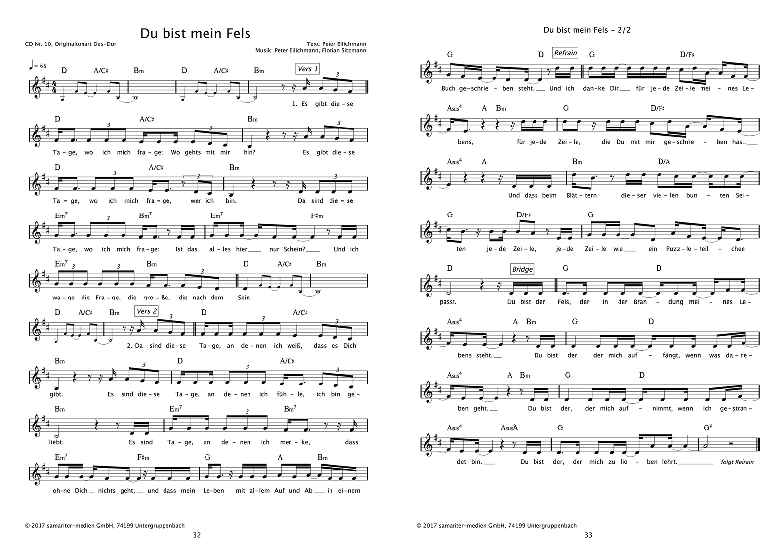 dubistmeinFels_Liederheft